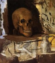 Cezanne, Natura morta, teschio e brocca d'acqua.jpg