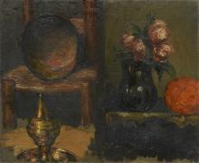 Cezanne, Oggetti in cuoio e vaso di fiori.jpg