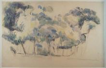 Paul Céezanne, Paesaggio con alberi e fabbricati | Landschap met bomen en gebouwen | Landscape with trees and buildings