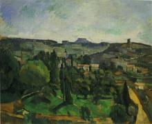 Cezanne, Paesaggio con strada e campanile.jpg
