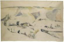Paul Cézanne, Paesaggio in Provenza | Paysage en Provence | Landscape in Provence