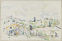 Cézanne, Paesaggio in Provenza   Paysage en Provence   Landscape in Provence