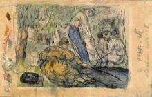Cezanne, Pescatori sulla riva.jpg