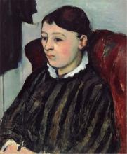 Cezanne, Ritratto dela signora Cezanne con vestito a righe.jpg