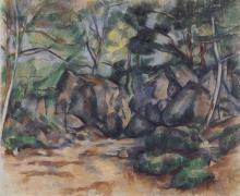 Paul Cézanne, Rocce nel bosco | Rochers dans le bois |