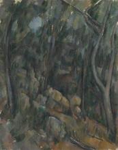Cezanne, Sottobosco davanti alle grotte al di sopra dello Chateau Noir.png