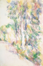Cezanne, Strada con alberi su un pendio | Route avec arbres sur une pente