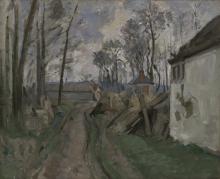 Cezanne, Strada di villaggio nei pressi di Auvers.png