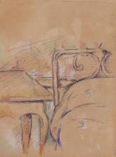 Cezanne, Tavolo e spalliera di un letto [verso] | Table et tête de lit [verso] | Table and headboard of a bed [verso]
