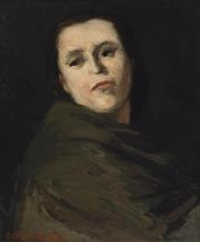 Cezanne, Testa di donna, ritratto presunto di Madame Zola.png