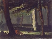 Cezanne, Uomo seduto sotto un albero.jpg