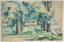 Cézanne, Vasca e viale di castagni allo Jas de Bouffan | Bassin und Kastanienallee im Jas de Bouffan | Bassin et allée des marronniers au Jas de Bouffan | Basin and chestnut alley in the Jas de Bouffan