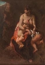 Théodore Chassériau, Medea furiosa, da Eugène Delacroix | Médée furieuse, d'après Eugène Delacroix