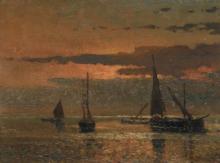 Beppe Ciardi, Barche al tramonto