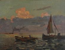 Beppe Ciardi, Barche in laguna