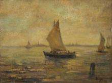 Beppe Ciardi, Isola di Murano con Venezia sullo sfondo