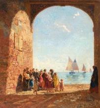 Beppe Ciardi, L'arrivo dei pescatori | Arrival of the fishermen