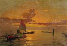 Beppe Ciardi, Laguna veneta al tramonto