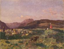 Beppe Ciardi, Paesaggio con pastori