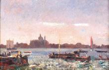 Beppe Ciardi, Venezia, sullo sfondo con Santa Maria della Salute | Venice, in the background with Santa Maria della Salute