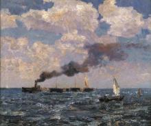Beppe Ciardi, Venezia, vapore e nuvole in laguna