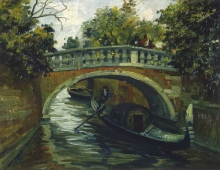 Emma Ciardi (attribuito a), Canale a Venezia