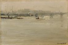 Emma Ciardi, Il Tamigi, Londra   River Thames, London