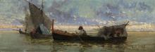 Guglielmo Ciardi, Barche in laguna