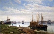 Guglielmo Ciardi, Canale della Giudecca [1867]