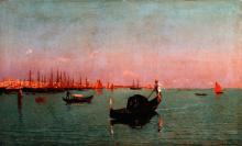 Guglielmo Ciardi, Gondola in laguna