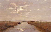 Guglielmo Ciardi, In valle - Laguna veneziana