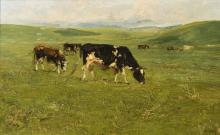 Guglielmo Ciardi, Le mucche brune, Asiago | Brown cows, Asiago