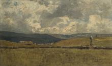 Guglielmo Ciardi, Nubi sulle colline