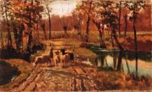 Guglielmo Ciardi, Pecore sul sentiero di campagna