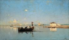 Guglielmo Ciardi, Pescatori in laguna [1880 circa]