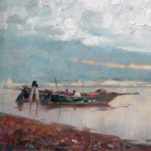 Ciardi Guglielmo, Pescatori in laguna [dettaglio].jpg