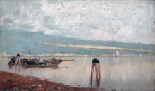 Guglielmo Ciardi, Pescatori in laguna