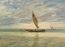 Guglielmo Ciardi, Pescatori in laguna | Fishermen in the lagoon