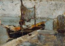 Ciardi Guglielmo, Venezia con barca