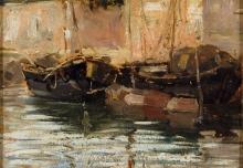Ciardi Guglielmo, Venezia con barche