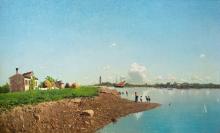 Guglielmo Ciardi, Vita di villaggio fuori Venezia | Village life outside Venice