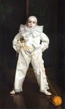 Vittorio Matteo Corcos, Pierrot con gattino