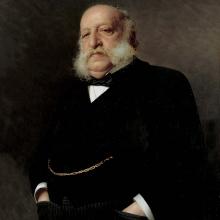 Vittorio Matteo Corcos, Ritratto dell'editore Emilio Treves [dettaglio]