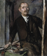 Lovis Corinth, Autoritratto davanti al cavalletto | Selbstbildnis vor der Staffelei