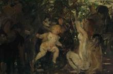 Corinth, L'infanzia di Giove (schizzo della composizione).jpg