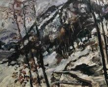 Lovis Corinth, L'Herzogstand sul Walchensee sotto la neve | Der Herzogstand am Walchensee im Schnee | Le Herzogstand à Walchensee dans la neige | The Herzogstand at Walchensee in the snow