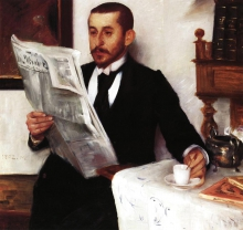 Corinth, Ritratto del pittore Benno Becker | Porträt des Malers Benno Becker | Portrait of the painter Benno Becker