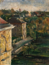 Lovis Corinth, Veduta dallo studio, Schwabing | View from the studio, Schwabing