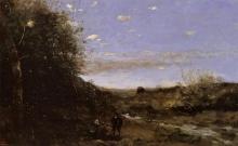 Jean-Baptiste Camille Corot, Amleto e il becchino | Hamlet et le fossoyeur | Hamlet og graveren | Hamlet and the gravedigger