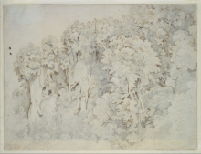Corot, Formazione rocciosa alberata nei pressi di Civita Castellana | Bewaldete Felsformation bei Civita Castellana | Wooded rock formation near Civita Castellana